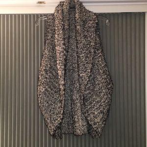 Black and White furry vest